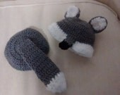 Crochet Wolf Beanie Diaper Cover Photo Prop