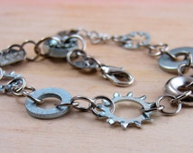 Steampunk Chain Bracelet Hardware Jewelry Industrial Mixed Washer