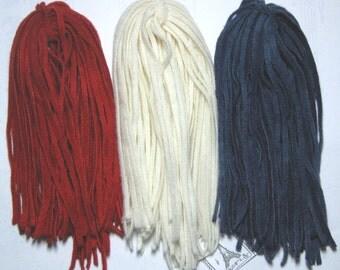 Rug Hooking Wool 100 Strips Americana Number 4 Cut New Dorr Wool Hand Dyed