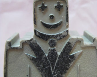 Shabby Man Green Stacking Toy Vintage