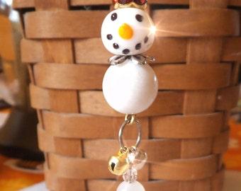 SNOW QUEEN A Snow Person, Snowman  Ornament, Suncatcher, Rearview Mirror Jewel, Sun Catcher