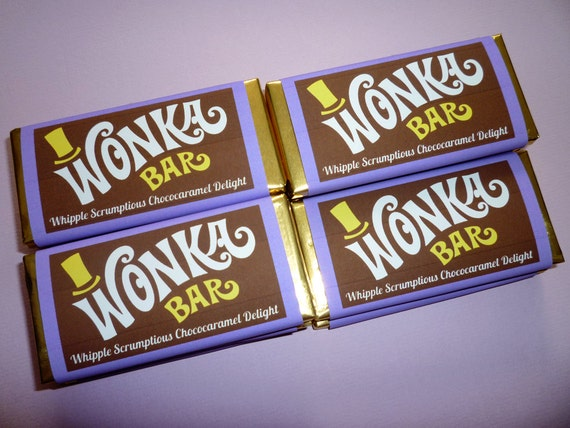 wonka bar wrappers wonka bar candy bar wrapper by