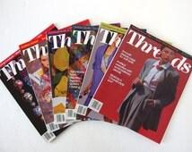 Vintage 1992 Threads Magazine, No. 39 to 44 with Index