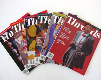 Vintage 1992 Threads Magazine, No. 39 to 44 with Index