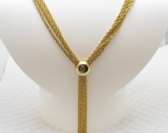 Long Bolo Style Chain Necklace Vintage Jewelry N6316