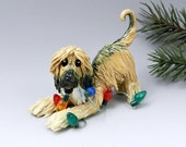 Afghan Hound Christmas Ornament Figurine Lights Porcelain