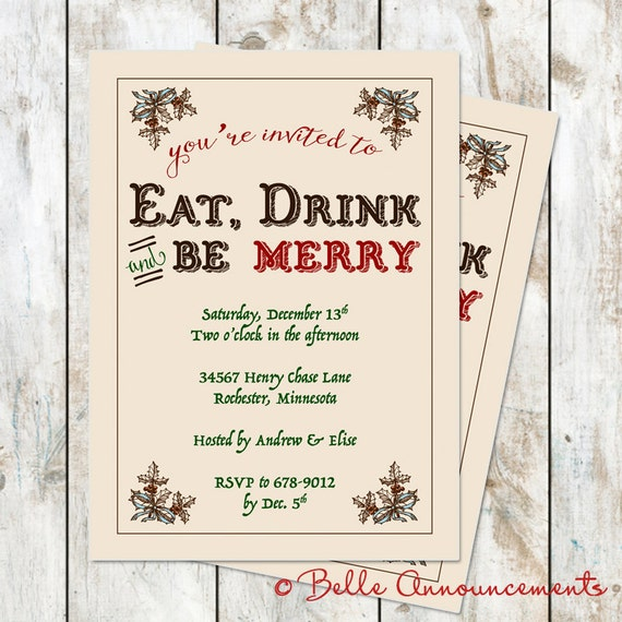 Be Merry Christmas Party Invitation for Keren