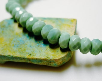 Amazonite Bracelet / Classic / Simple / Stone / Russian Amazonite / Mint / Wintergreen / Pastel / Sweet / Lovely / Gorgeous / Gift for Her