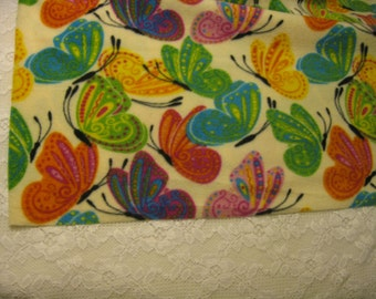 Five Buck Fleece Scarf Blow Out Only at SylMarCreations!  Exquisite Colorful Butterflies Winter Fleece Scarf