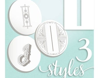Embroidery Pattern Modern Monograms Letter I hand embroidery patterns in three styles Alphabet Letter embroidery designs by SeptemberHouse