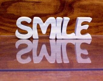 Smile Sign ,Wood Smile Sign, Smile Shelf Sitter,Unfinished
