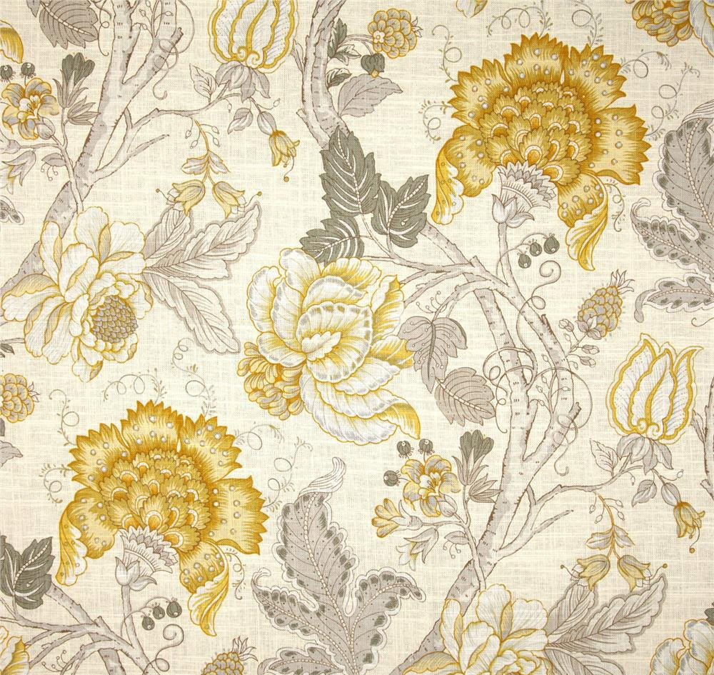 Grey Yellow Window Curtains Yellow Floral Drapes Yellow Home