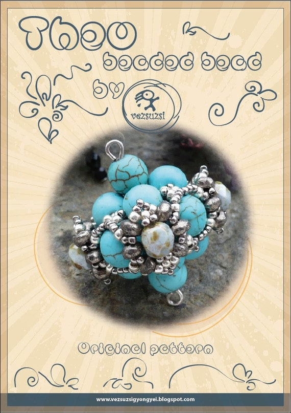 Theo - beaded beads -PDF instruction for personal use only