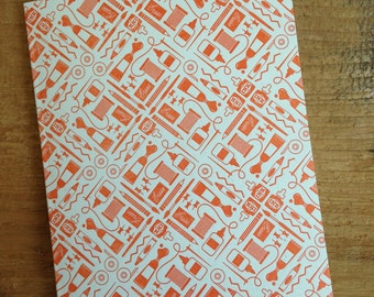 CREATE - Tools of the Trade Letterpress Patterned Card Blank