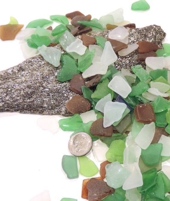 Bulk of small craft sea glass lot of 100 for crafts and for Craft mosaic tiles bulk