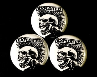 Exploited 1inch Pinback Button or Magnet