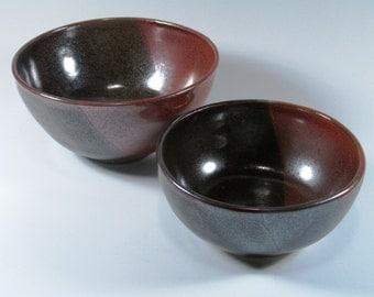 Ceramic Bowl - Cereal Bowl - Soup Bowl - Rusty Red Bowl - Brown Bowl  - Wheel Thrown Bowls - Stoneware Bowls - Pottery Bowls