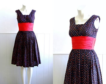 ON SALE - 1950s Confetti Party Dress // Jonathan Logan // Small