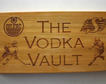 Custom Engraved Cedar Sign Laser Engraved Wood Sign Personalized Bar Sign