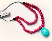 Acai Turquoise necklace / Mixed Berry
