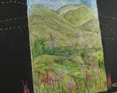 Needle Felted Wildflower Meadow, Mounted for hanging