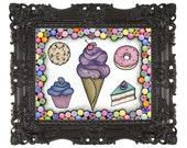 11x14 Sugary Sweet Print by Cora Rountree