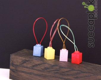 Silmuccamerkki- Knitting Stitch Markers, Extremely light weight knitting place markers made ot of lego blocks