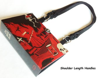 The Black Death Recycled Book Purse - The Plague Book Bag - Macabre Gift - Skeleton Collector