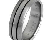 Titanium Wedding Band  - Black Ring - Man's Wedding Ring - bk31