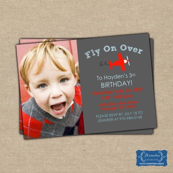 Airplane Birthday Party - Airplane Birthday Invitation, printable, digital file {BD4}