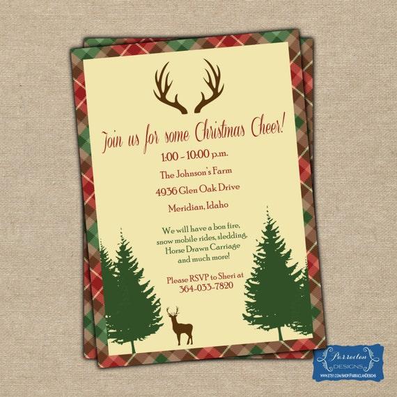 Christmas Party Invitation, Printable, Digital,  {CP3}
