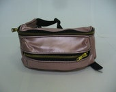 OOAK Metallic Pink Leather Fanny Pack