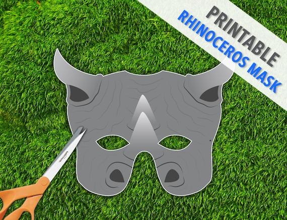 Mask | Party Mask | Rhino Mask | Halloween ... Hippo Mask Template