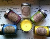 Set of 3 Scented Soy Christmas Candles 4oz