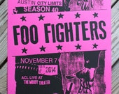 Foo Fighters Austin City Limits poster - Sonic Highways
