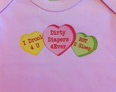 Funny Valentine Long Sleeve Baby Tee or Bodysuit