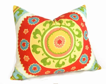 red suzani pillow covers red yellow pillows bohemian pillows unique eclectic cushions