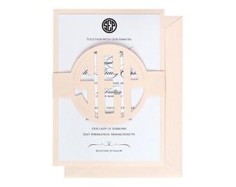 Circle Monogram Invitations