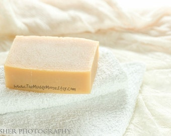 Unscented Soap, SENSTIVE SKIN Goat Milk Soap,  All Natural ,Unscented, No colorant, no scent.