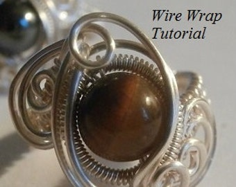 TUTORIAL, Wire Wrapped Ring, The Galaxy Ring, Advanced Wire Weave Jewelry Project, DIY Wire Weave, Wire Wrapped Ring