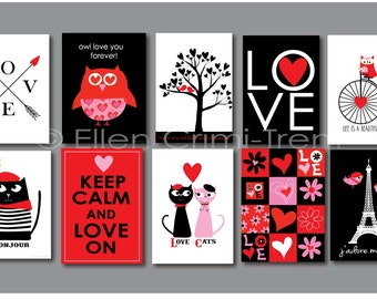 Valentines Day Decor- 5x7 wall cards- Paris|gifts for her|couple gift| wall art