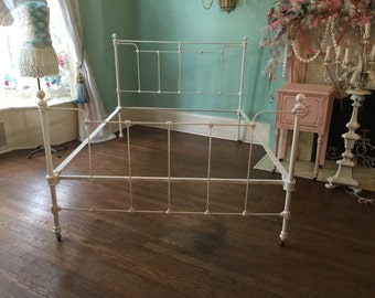50%balance dievcustom order shabby chic full bed frame cast iron white distressed antique double chalk paint