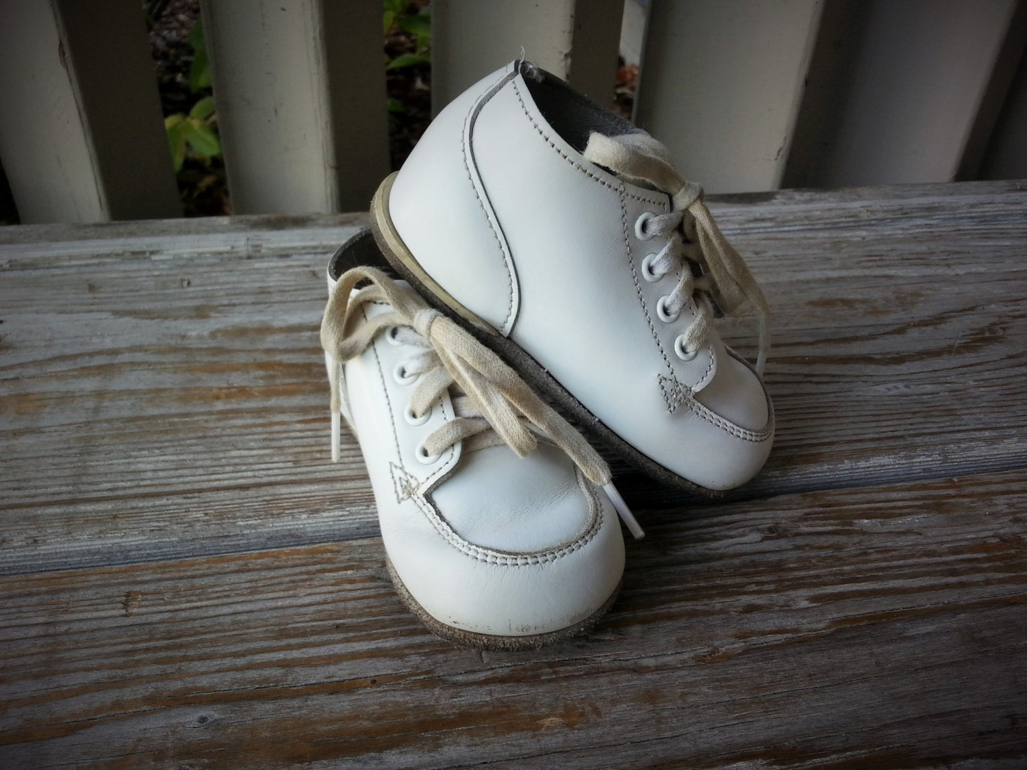 Stride Rite White Leather Baby Shoes