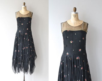 Miss Castle dress | vintage 1920s dress • silk floral 20s dress