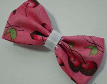 Kawaii Chocolate Dipped Cherries Hair Bow
