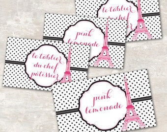 PRINT & SHIP Paris Birthday Party Jar Labels (set of 8) >> personalized and shipped to you | Paper and Cake