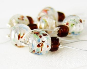 LAST SET - Painters - Six Snag Free Stitch Markers - Fits Up To 5.5 mm (9 US) - Limited Edition