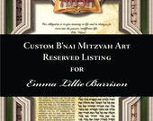 RESERVED LISTING for Emma Lillie Barrison ONLY - Dbl Matted B'nai Mitzvah Gift - Tree of Life