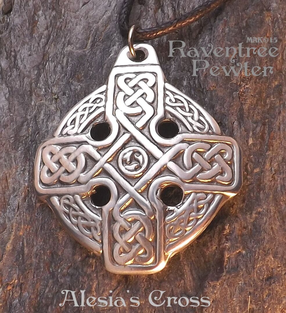 Alesia s cross pewter pendant celtic equal arm
