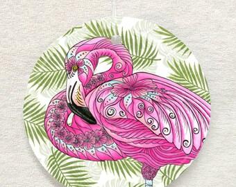 Flamingo Flowers Ornament and Suncatcher